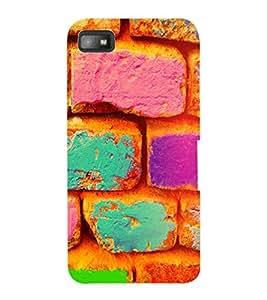 ColourCraft Colourful Bricks Design Back Case Cover for BLACKBERRY Z10