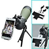 Gosky Smartphone Capturer for Iphone Android and Windows Smartphones - Compatible with Binoculars Monocular Spotting Scopes Telescopes - Diameter From 38mm-50mm