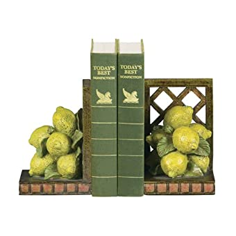Sterling Home Pair of Lemon Orchard Bookends 5-3/4-Inch Tall