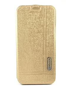 Cubezap Nillkin Window Leather Flip Diary Case Back Cover for Samsung Galaxy S6 - Gold