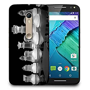 Snoogg Crystal Chess Designer Protective Back Case Cover For MOTO X STYLE