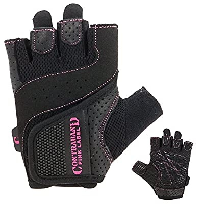 Contraband Pink Label 5137 Womens Weight Lifting Gloves w/ Grip-Lock Padding (PAIR)