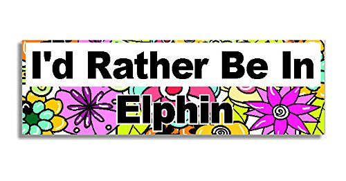 id-rather-be-in-elphin-car-sticker-sign-coche-pegatina-decal-bumper-sign-5-colours-flowers