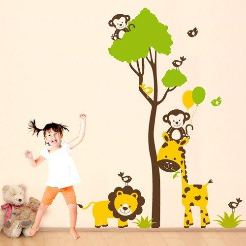 adesivo-murale-per-bambini-wall-art-allegra-savana-misure-92x120-cm-decorazione-parete-adesivi-per-m
