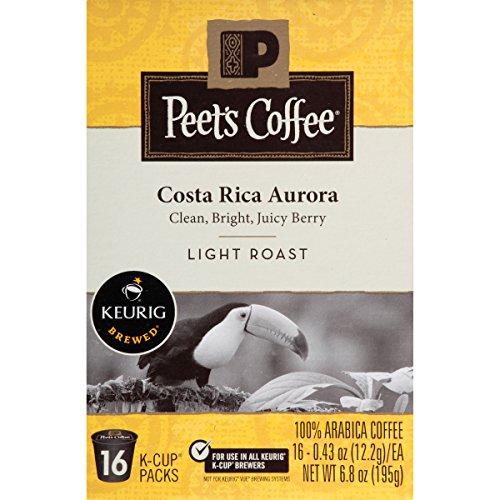 Peet's K-Cup Packs Costa Rica Aurora Light Roast Coffee, 16 Count (Light Roast Coffee For Keurig compare prices)