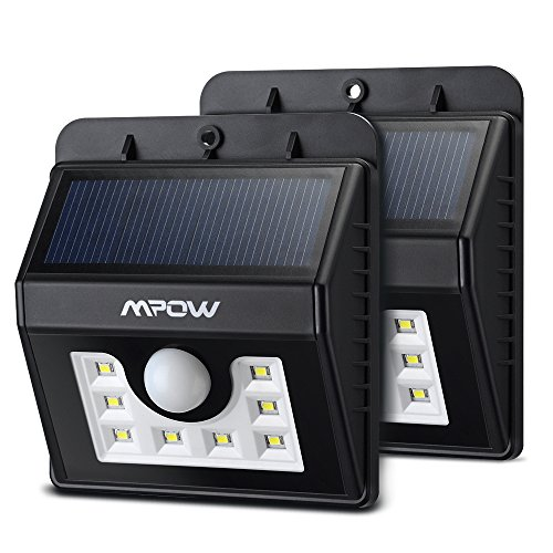 Mpow 2-Pack Solar Wall Light, Bright Outdoor Weatherproof Security LED Motion Sensor Lighting (Porch Lights Sensor compare prices)