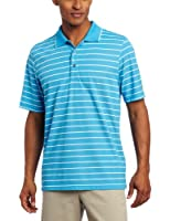 IZOD Men's Short Sleeve Oxford Stripe Golf Pique Polo
