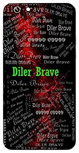 Diler Brave (Hindu Boy) Name & Sign Printed All over customize & Personalized!! Protective back cover for your Smart Phone : Samsung Galaxy S6 Edge