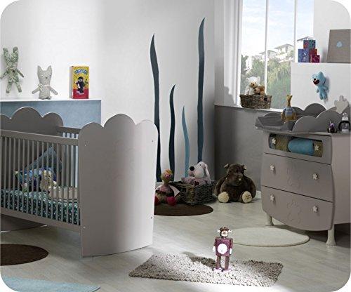 Mini Babyzimmer Linea Lein Sand mit Gitterbettchen und Wickelfläche bestellen