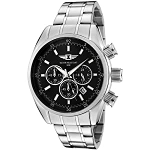 I By Invicta Men's 89083-002 Chronograph Black Dial Stainless Steel Watch