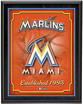 "Miami Marlins Team Logo Sublimated 10.5"" x 13"" Plaque - Fanatics Authentic Certified - MLB Team Plaques and Collages"