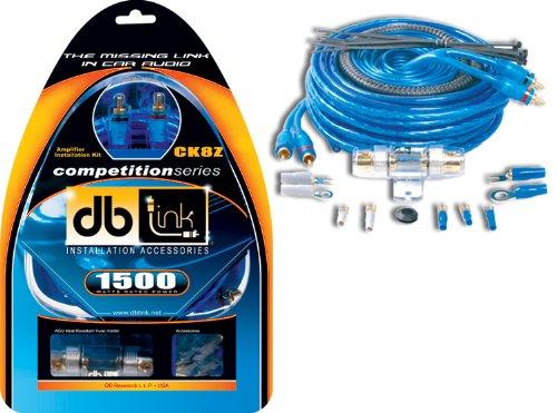 Db Link Ck8Z 8 Gauge Competition Series 17-Feet Amplifier Installation Kit (Blue)