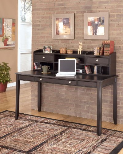 Carlyle Large Leg Desk w/ Hutch by Ashley Furniture