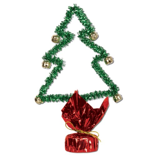 Christmas Tree Gleam 'N Shape w/Bells Party Accessory (1 count) (1/Pkg)
