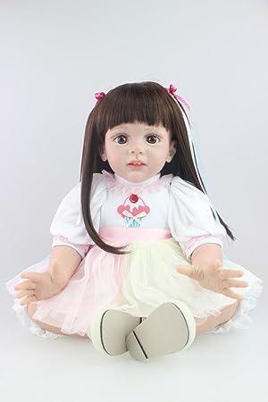 """Terabithia 24"""" Alive Silicone Pretty comme une princesse Reborn Toddler Fille Poupées"""