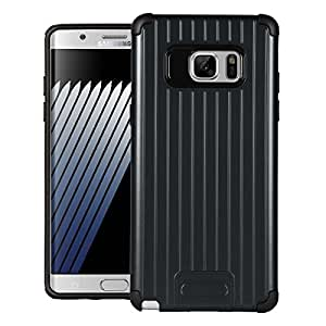 Note 7 Case, SWAN Metal Armor Cover Hybrid Tpu + PC Dual Layer Back cover For Samsung Galaxy Note 7 (Navy Blue)