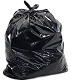 BLACK GARBAGE (TRASH) BAGS FOR HEAVY INDUSTRIAL USE, 60 GALLON XXX. HEAVY, BLACK 2.1 MIL - 4 MIL STRENGTH, 100/CASE