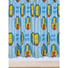 Childrens/Kids Boys 100% Bart Simpson Ready Made Bedroom Curtain Set