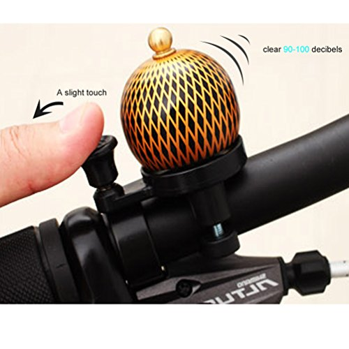 M-BLANC Mini Retro Bicycle Bell Round Handlebar Mount Copper Cover Safety Warning Bike Horn Bell 4