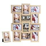 Songmics Bilderrahmen für 12 Fotos je 10 x 15 cm (4 x 6') +...