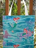 Ariel the Little Mermaid Licensed Disney Fabric Reversible Fabric Tote Bag