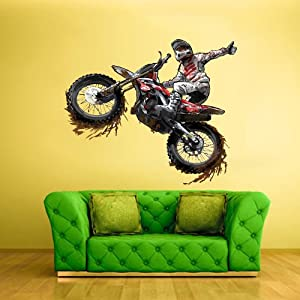 Full color wall decal mural sticker decor art for Dirt bike wall mural