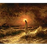 "Christ Walking on the Waters By Julius Sergius Von Klever - 11"" X 14"" Canvas Print"