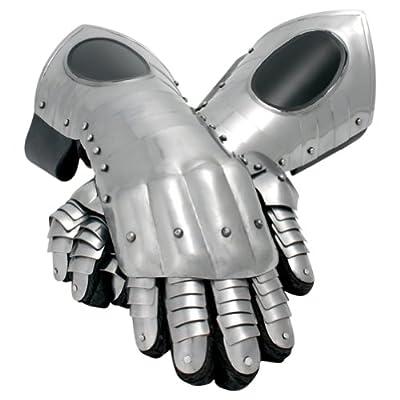 Armor Venue - Black Ice Steel Gauntlets - Black - One Size Armour