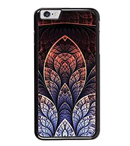 Fuson Premium 2D Back Case Cover Floral Pattern With yellow Background Degined For Apple iPhone 6 Plus
