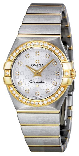 Omega Women's 123.25.27.60.52.002 Constellation Silver Diamond Dial Watch