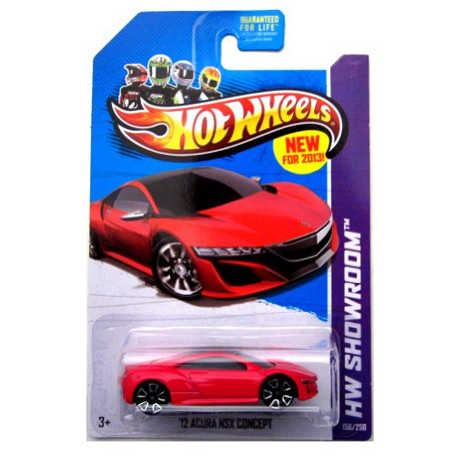 12 Acura NSX Concept '13 Hot Wheels 156/250 (Red) Vehicle - 1