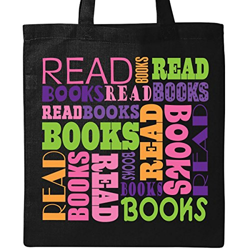 Inktastic Read Books Reading Tote Bag Black