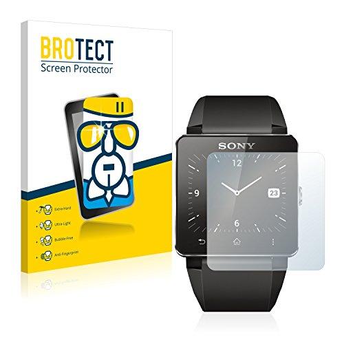 BROTECT AirGlass Protection Verre Flexible pour Sony Smartwatch 2 Film Vitre Protection Ecran - Extra Résistant, Ultra-Léger