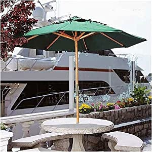 Del Mar and Davya 112 Umbrella Recover Fabric Color: Sunbrella Jockey Red