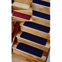 Solid Blue Rug Treads Set