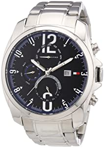 Tommy Hilfiger Men's 1790831 Silver Stainless-Steel Analog Quartz Watch with Blue Dial