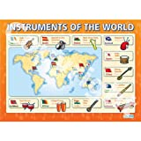 Instruments Of The World Music Educational Wall ChartPoster in laminated paper A1 850mm x 594mm
