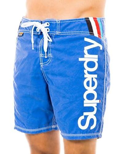 Superdry Short de Baño Azul