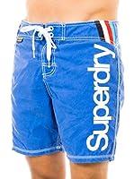 Superdry Short de Baño (Azul)