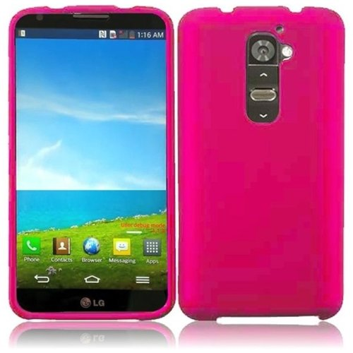 Hr Wireless Lg G2/Vs980 (Verizon) Rubberized Protective Cover - Retail Packaging - Hot Pink