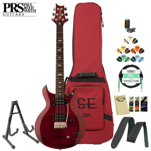 Prs Se Carlos Santana (Cssr) Scarlet Red Electric Guitar W/ Accessories & Gig Bag