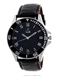 Zerk Trio Series With Silver Linning Dial Analog Black Dial Men's Watch Zk-Men52