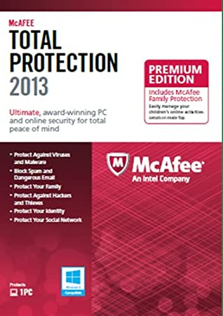 McAfee Total Protection 1PC Family Protection Bundle 2013