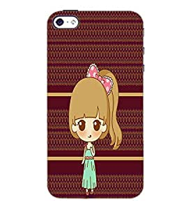 PrintDhaba Cute Doll D-3799 Back Case Cover for APPLE IPHONE 4S (Multi-Coloured)