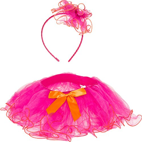 Silverhooks Girls Bow Tutu Dance Skirt w/ Headband
