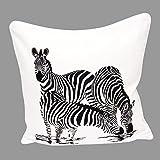 "100% Cotton Printed Cushion Cover Design Zebra Size 18""x18"""