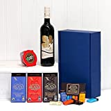 Red Wine & Chocolate Survival Kit Gift Box Hamper by Fine Food Store with 750ml Broadleaf Cabernet Sauvignon Wine, Christmas Pudding & Green & Blacks Organic Chocolates Gift ideas for - Mothers Day,Valentines,Presents,Birthday,Men,Him,Dad,Her,Mum,Thank y
