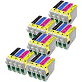 24 Perfect Print Compatible T1816 Ink Cartridges for Epson Expression Home XP102 XP202 XP212 XP215 XP205 XP30 XP302 XP305 XP312 XP315 XP402 XP412 XP415 XP405 XP405WH, 3x T1811, 3x T1812, 3x T1813 and 3x T1814