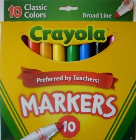 Bulk Buy: Crayola Broad Line Markers 10/Pkg Classic Colors 58-7722 (3-Pack)