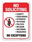No Soliciting Sign Legend' 10 X 7 Rus...